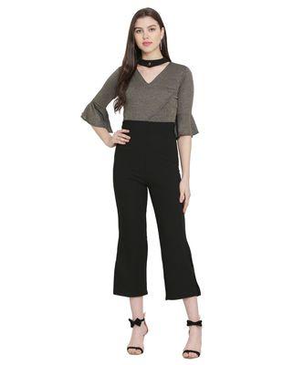 Black Color Lycra Fabric Jumsuit