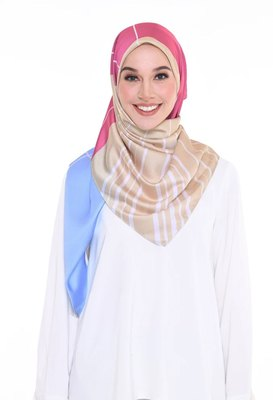 Women'S Casual Wear Satin Silk Printed Square Hijab Scarf Dupatta