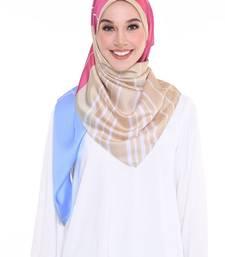 Women'S Casual Wear Satin Silk Printed Square Hijab Scarf Dupatta