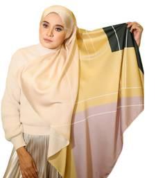 Women'S Occasion Wear Printed Satin Silk Square Hijab Scarf Dupatta