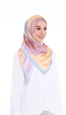 Women'S Daily Wear Satin Silk Printed Square Dupatta Scarf Hijab