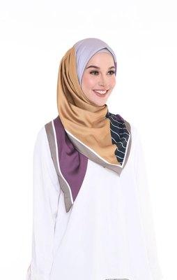 Women'S Satin Silk Printed 110 * 110 Cm Square Hijab Scarf Dupatta