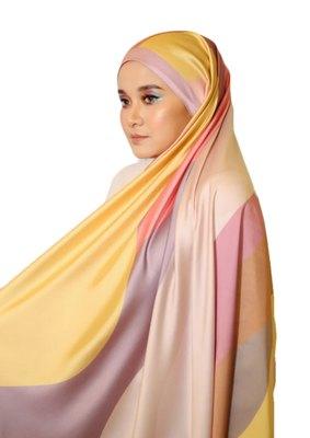 Women's Daily Wear  Satin Silk Square Printed Hijab Scarf Dupatta