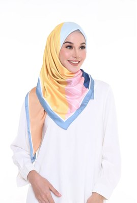 Women's  Satin Silk Printed 110 * 110 cm Square Scarf Hijab Dupatta