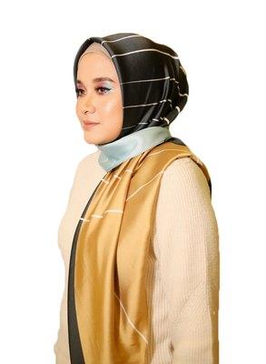 Women'S Printed Satin Silk Square Dupatta Scarf Hijab