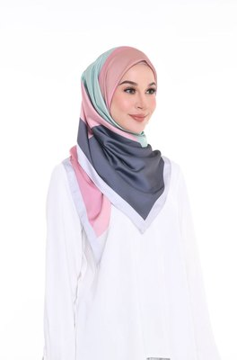 Women'S Daily Wear Satin Silk Square Scarf Hijab