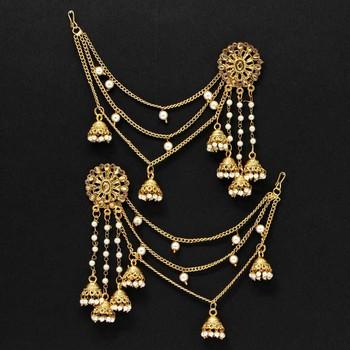 Gold danglers-drops