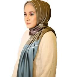 Satin Silk Printed Square Hijab Dupatta Scarf For Women