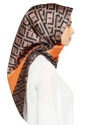 Satin Silk Printed Square Hijab Scarf Dupatta For Women