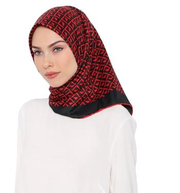 Women'S Daily Wear Satin Silk Square Hijab Scarf Dupatta