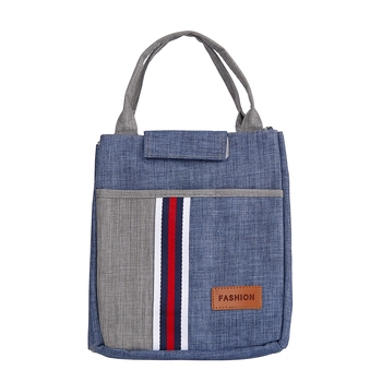 Shree Shyam Products Denim Blue Tote Bag Lunch Bag Insulated With Adjustable Strap For Unisex Large Capacity (1 Pc Set)