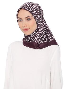 Printed Satin Silk Square Scarf Dupatta Hijab (110 * 110 Cm, Multi)