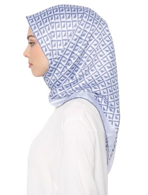 Printed Satin Silk Square Hijab Scarf Dupatta For Women