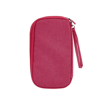 Pink Travel Wallet Document Organizer Bag, Passport Holder Bag 1 Pcs Set