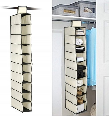 10 Tiers Clothes Hanging Organizer, Wardrobe For Regular Garments, Shoes Storage Set Of 1 Pc