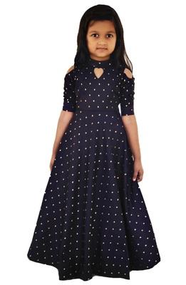 Kids Blue Long Leatest Design Down For Girls