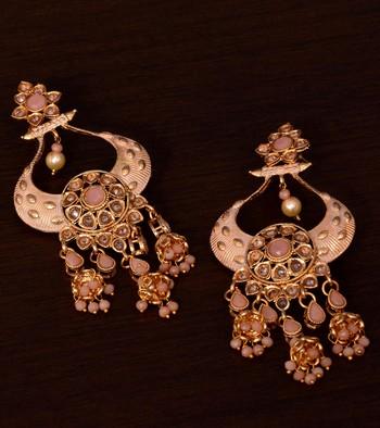Kundan and Stone Embellished Designer Danglers for Wedding 217EDS250