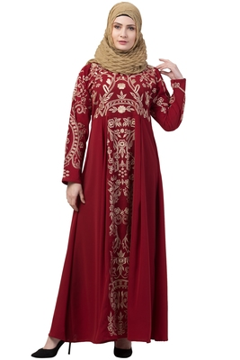 Premium abaya with Golden Embroidery work