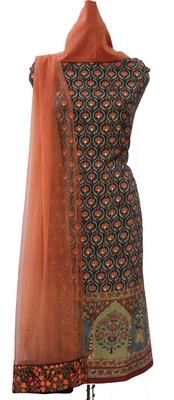 Modal Cotton Silk Print Unstitched Suit Fabric
