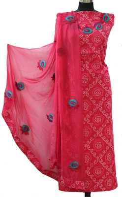 Rani Pink Print Cotton Suit Fabric