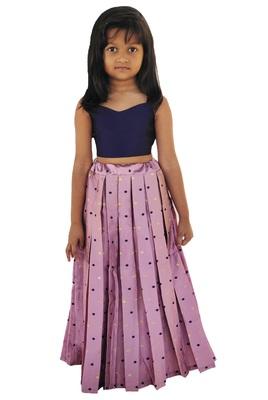 Kids blue and pink lehenga choli