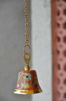 Brass Hand Held Musical Puja Bell