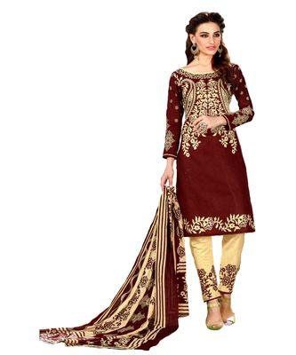 multicolor printed cotton unstitched salwar