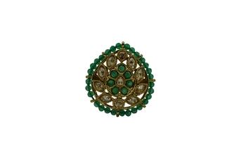 Green cubic zirconia rings