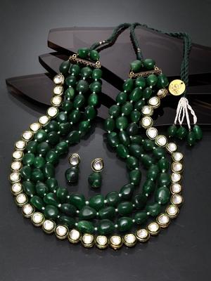 Green  diamond jewellery-combo