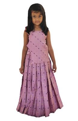 Kids Pink Lehenga Choli Set