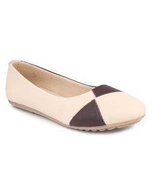 Beige Beautiful synthetic material bellies for women