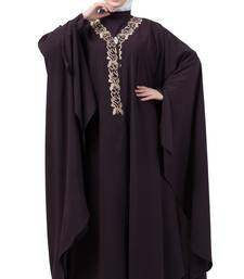 Women Double Layered Irani Caftan Purple