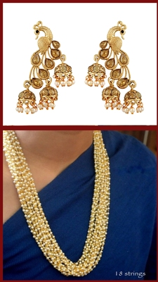 Gold Necklaces & Earrings Combo