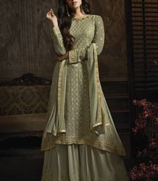 Dusty Green Lehenga Kameez With Dupatta