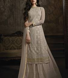 Dusty Beige Lehenga Kameez With Dupatta