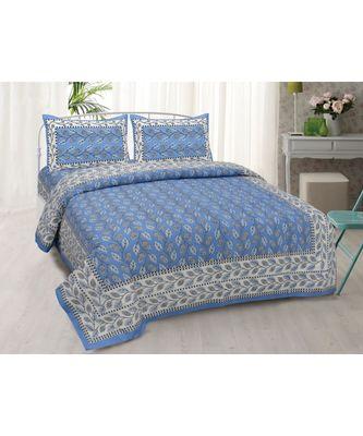 JAIPURI COTTON PRINTED MULTICOLOUR DOUBLE BED SHEET
