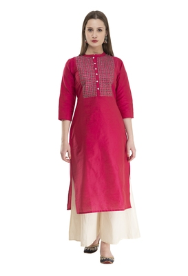 pink Womens Embroidered polly silk RK2162C