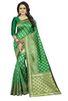 Green Rapier jacquard Silk Designer Saree With Blouse