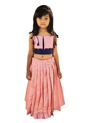 Kids Pink Lehenga Choli For Girls