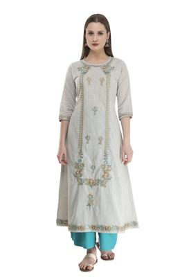 womens cotton Printed Straight Kurta