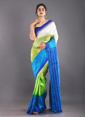 multi color silk saree