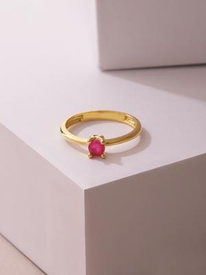 Magenta ruby rings