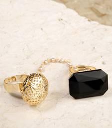 Black coloured stone rings