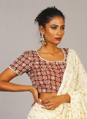 Geometric Handloom Cotton Blouse