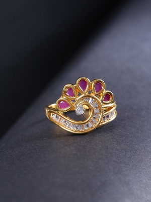 Magenta american diamond rings