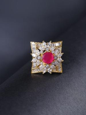 Magenta american diamond rings