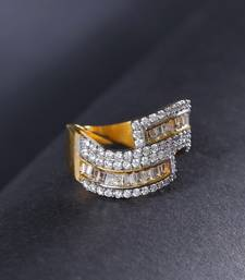 Gold american diamond rings