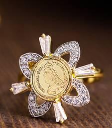 Gold american diamond rings