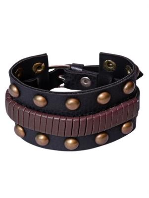 Genuine Leather Bracelet Black brown Wraps Casual Skin Friendly Bracelets for Men