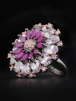 Purple american diamond rings